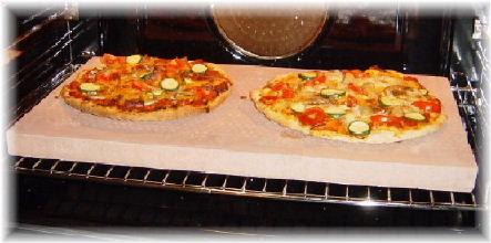 Stenen pizzaplaat